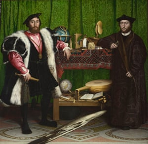 The Ambassadors), 1533, by Holbein.