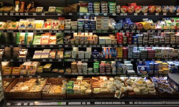The cheese section at Perekrestok in Afimol shopping mall
