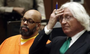 Suge Knight and his lawyer Thomas Mesereau on Tuesday.