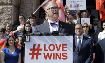 Jim Obergefell, the named plaintiff in the Obergefell v Hodges supreme court case that legalised same-sex marriage in the US.