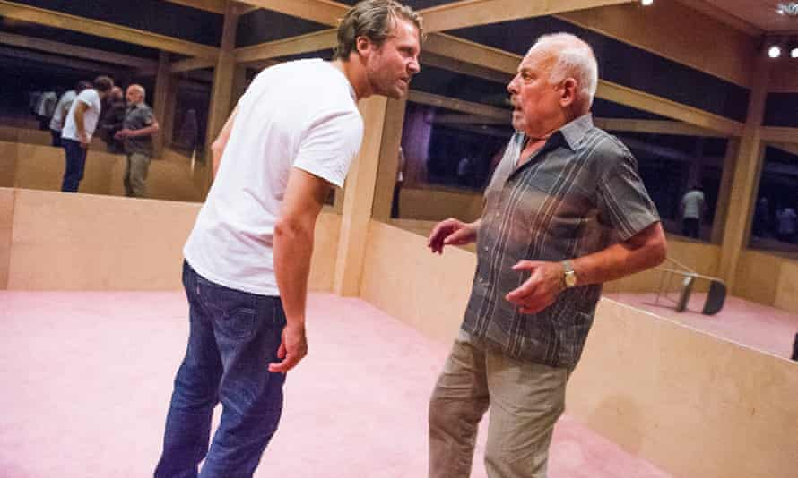 Father and sons … John Shrapnel (Salter) and Lex Shrapnel (his sons) in A Number by Caryl Churchill.