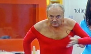 George Galloway in red leotard on Celebrity Big Brother.