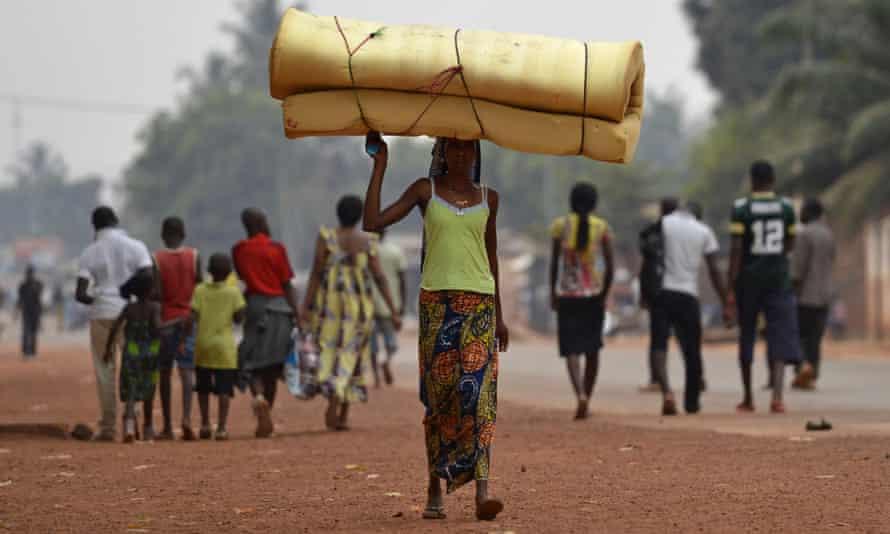 Woman flees Bangui, CAR