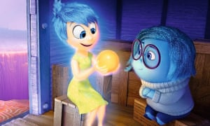 Joy (voiced by Poehler) and Sadness in Inside Out.