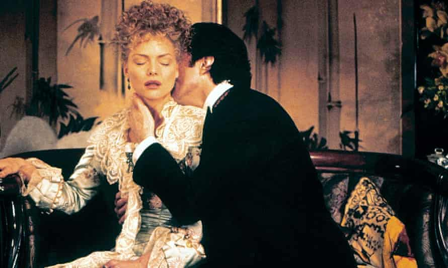 Michell Pfeiffer as Ellen Olenska and Daniel Day Lewis as Newland Archer in the 1993 film of The Age of Innocence.