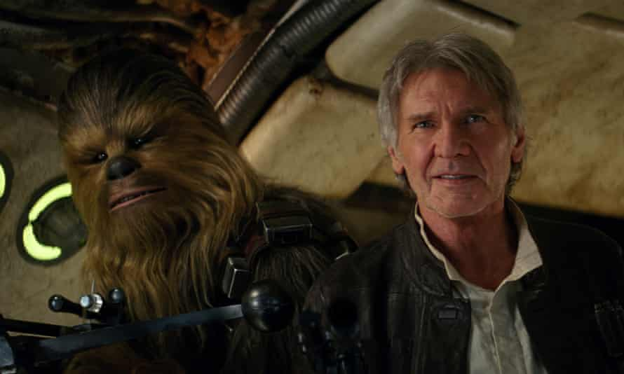 Good old days …Han and Chewie in the new movie.