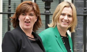 Nicky Morgan and Amber Rudd in Downing Street