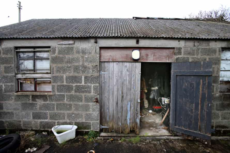 The old barn in Derrymacash, County Armagh, where the shooting took place.