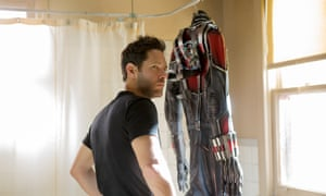Not quite a total shower … Paul Rudd and the Ant-Man suit.