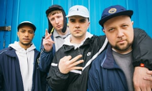 Inaction station: the Kurupt FM crew, (l-r)  Decoy, Steves, Grindah and Beats.