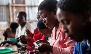 Women work in Nairobi