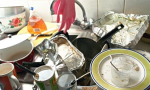 Sink and dirty dishes