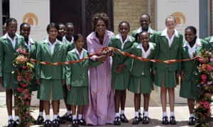 Oprah Winfrey at the Oprah Winfrey Leadership Academy for Girls in Henley-on-Klip, South Africa.