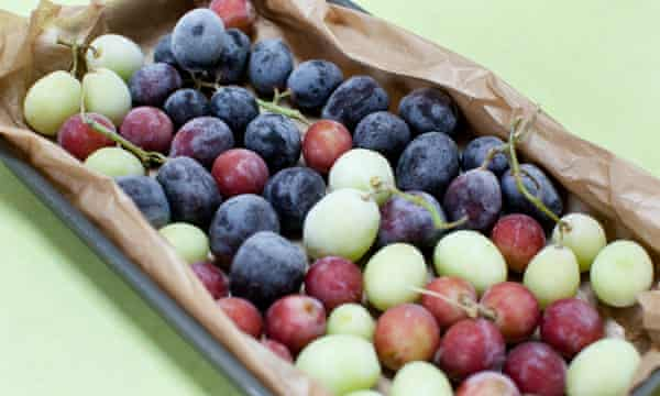 Grapes need nothing more than a stint in the freezer to turn into self-contained mini sorbets.