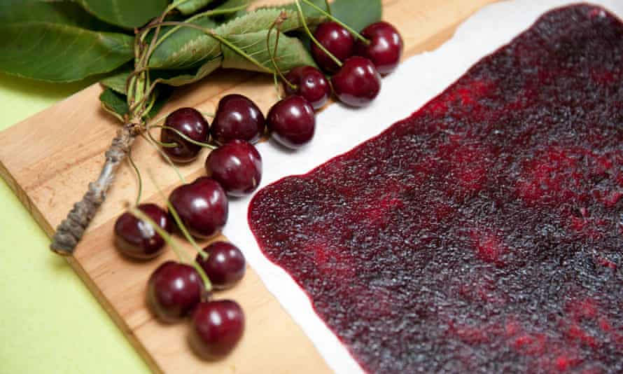 The cherry leather is a perfect chewy snack.