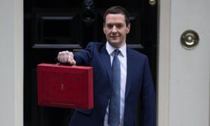 George Osborne before delivering his budget.