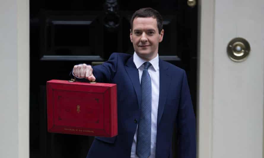 George Osborne before delivering his budget.