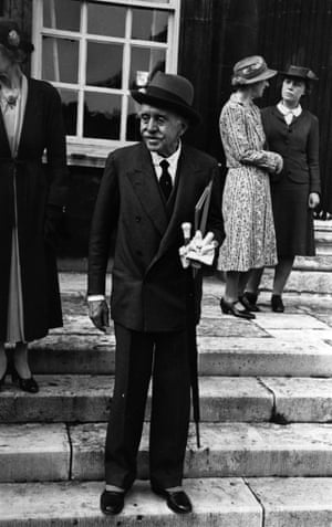 'Inside that imperturbable exterior he was shaking with mirth, delighted as he was by the world and its sillinesses' … Max Beerbohm, pictured in 1947.