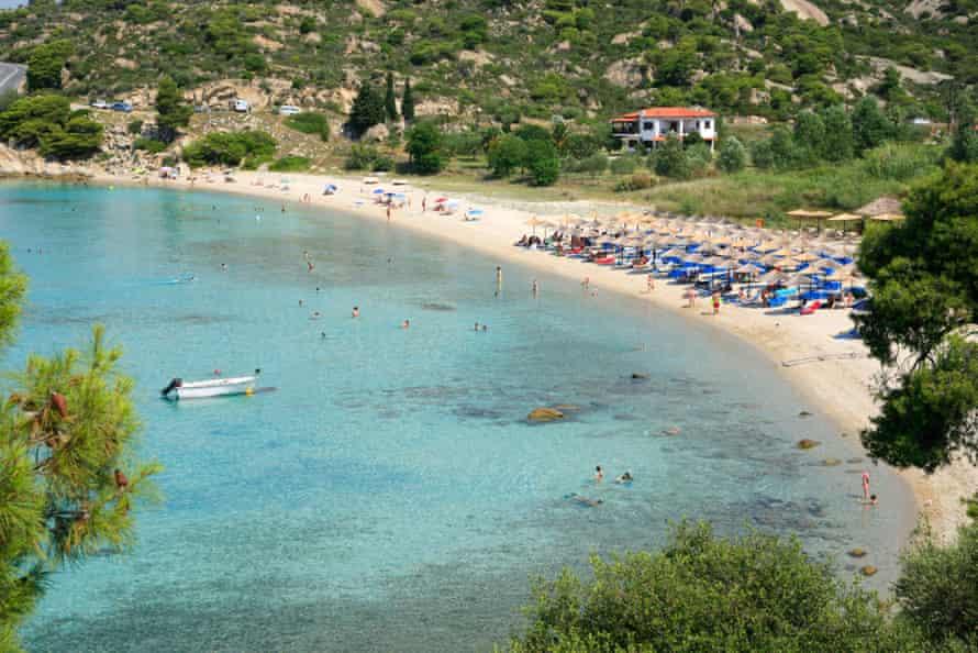 The beach at Kalogria.