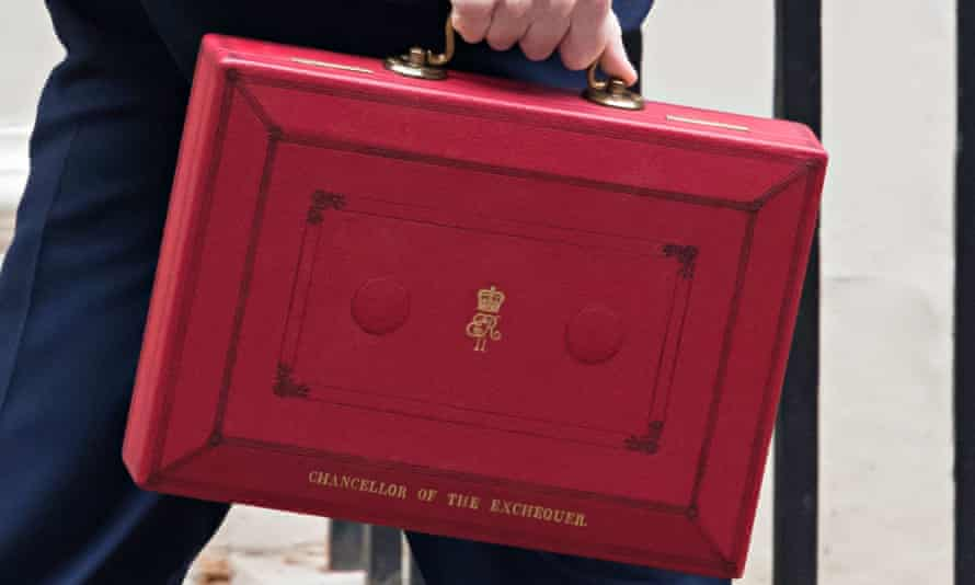 Chancellor carrying the red briefcase