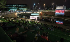 Floating Cinema at King's Cross in 2014.