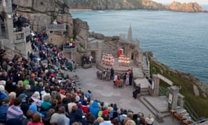 A performance of Guys and Dolls at the Minack Theatre, Cornwall