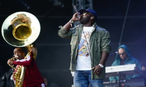 Black Thought of the Roots performs in the Isle of Wight.