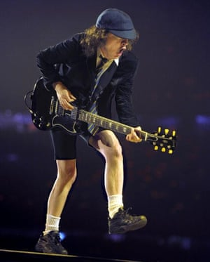 Stripped to the bare essentials of rock'n' roll ... Angus Young of AC/DC.