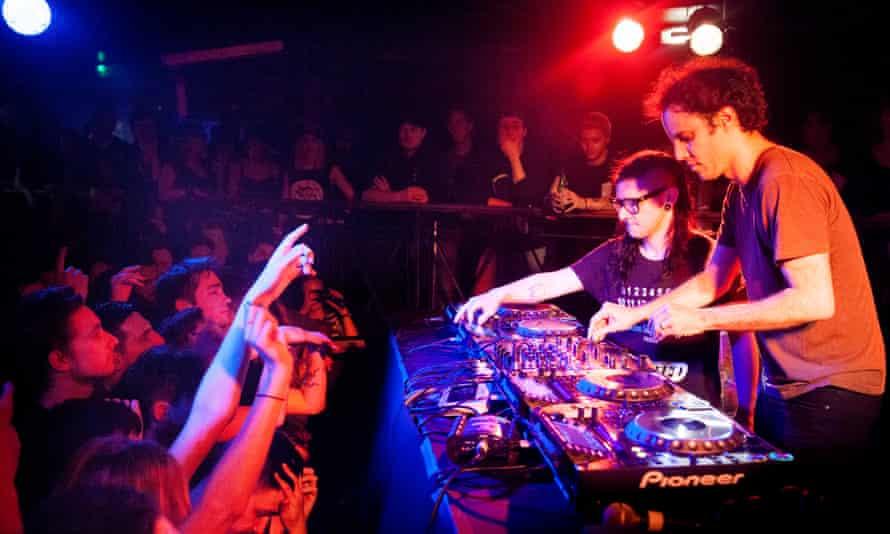 Four Tet DJs with Skrillex at Camden Underworld.
