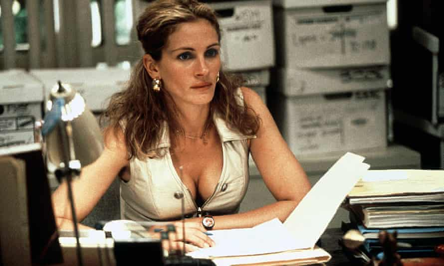 Julia Roberts playing the equally glamorous real Erin Brockovich, who refused to give in to pollution, in the Oscar-winning 2000 film.