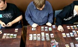 Magic: The Gathering players build decks