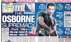 The Sun hails George Osborne as an action hero