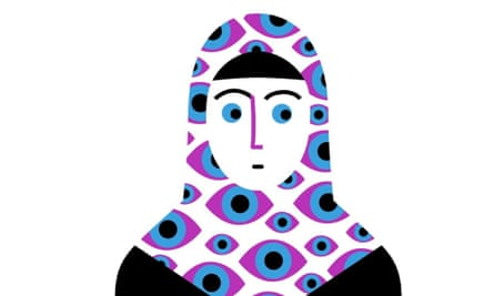 woman in hijab illustration