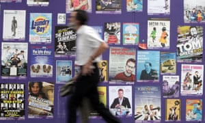 Posters jostle for attention at the Edinburgh fringe every year.