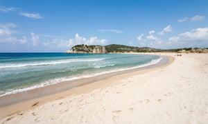 Voidokilia Beach, Petrohori near Yialova, Messinia, Peloponnese.