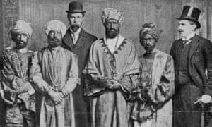 """""""The Emperor of Abyssinia"""" and his suite."""