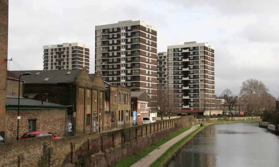 Council flats in north London.