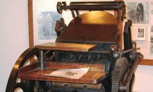 The original Hogarth Press on show at Sissinghurst Castle, Kent.
