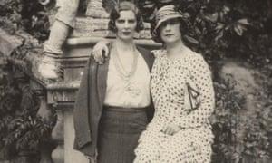 Vita Sackville-West and Violet Trefusis  at Sissinghurst.
