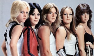 Jackie Fuchs, then known as Jackie Fox, and the Runaways.