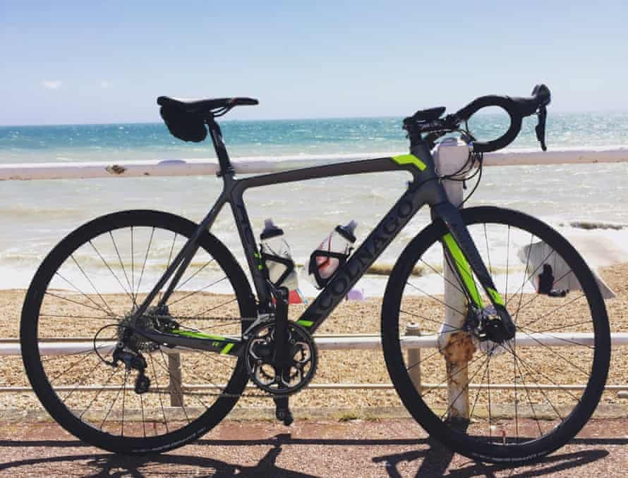The Colnago AC-R Disc enjoying some rays on Hastings seafront.