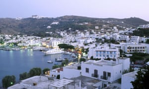 The harbour at Skala, Patmos. Dodecanese.
