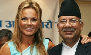 Ginger Spice met the Prime Minister of Nepal as a goodwill ambassador for the UN Fund for Population Assistance (UNFPA).