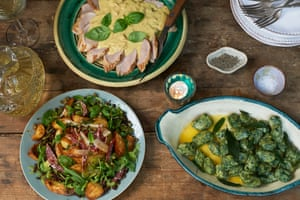 Pork tonnato, malfatti, potato and salami salad with caper and mostarda dressing good enough to impress real Italians with. Photograph: Jill Mead for the Guardian