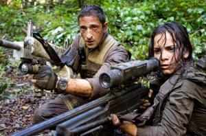 Adrien Brody and Alice Braga in 2010's Predators.