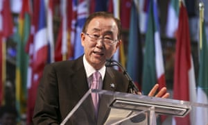 United Nations secretary-general Ban Ki-moon speaks during a ceremony commemorating the 70th anniversary of the signing of the UN Charter in San Francisco, California June 26, 2015.