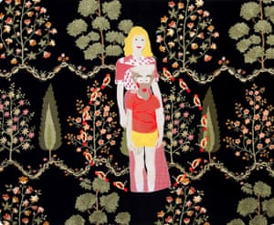 Raed Yassin artist Lebanese tradition of embroidery on silk