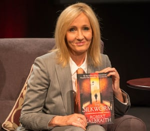 JK Rowling with the book she wrote under the pseudonym Robert Galbraith.