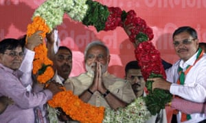 The Vyapam scandal is the first to hit the Bharatiya Janata party (BJP) of prime minister Narendra Modi (centre).