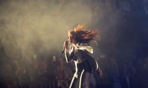 Florence Welch at Glastonbury.